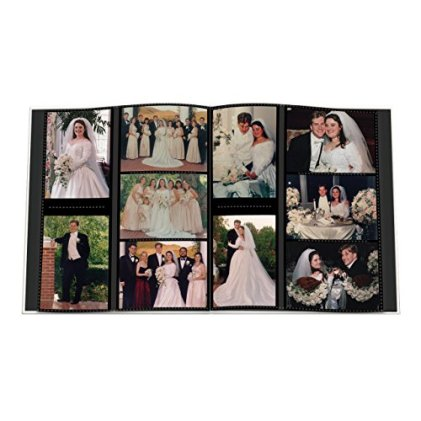 Pioneer-Collage-Frame-Embossed-Wedding-Sewn-Leatherette-Cover-Photo-Album-Ivory