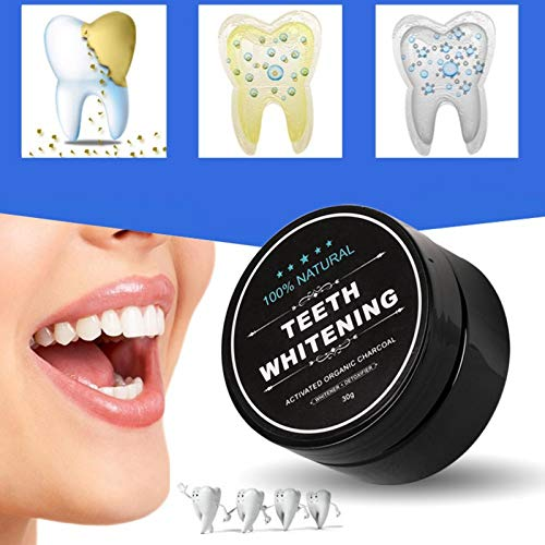 Teeth Whitening Charcoal Powder, Natural Activated Charcoal Teeth Whitener Powder with Bamboo Brush Oral Care Set (1.05 oz) 7