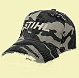 Stihl Officially Licensed Generic Camo Cap W/Embroidered Logo & Adjustable Back