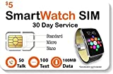 SpeedTalk Mobile $5 Smart Watch SIM Card for 2G 3G 4G LTE GSM Smartwatches and Wearables - 30 Day Service