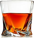 Venero Crystal Whiskey Glasses - Set of 4 Scotch Glasses, Tumblers for Drinking Bourbon, Cognac, Irish Whisky, Large 10oz Premium Lead-Free Crystal Glass Tasting Cups, Luxury Gift Box for Men or Women