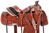"""Product review for 15"""" 16"""" WESTERN COWBOY HAND CARVED LEATHER ROPING RANCH RODEO BARREL HORSE SADDLE TACK SET PLEASURE TRAIL"""