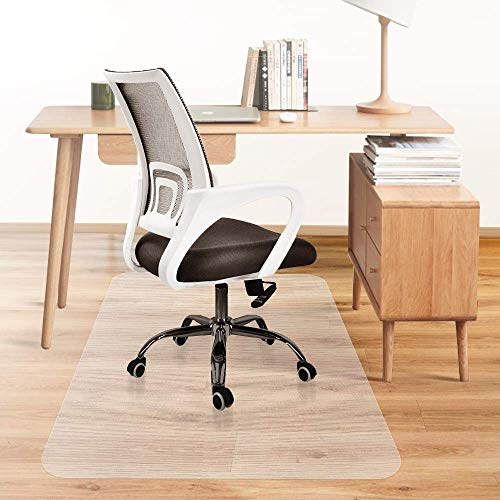 Office Desk Chair Mat Hardwood Floor Protector Heavy Duty Clear Recycled Polycarbonate BPA and Odor Free Non Slip Flat No Curling Home Office Computer Desk Floor Mats 35 x 47inches
