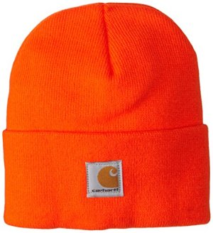 Carhartt Kids' Acrylic Watch Hat, Brite Orange (Toddler), One Size