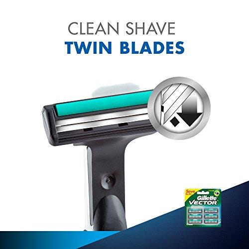 Gillette Vector Plus Manual Shaving Razor Blades (Cartridge) - 6s Pack 19