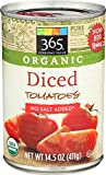 365 Everyday Value, Organic Diced Tomatoes No Salt Added, 14.5 Ounce