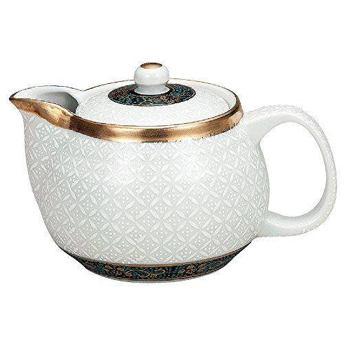 Kutani Yaki(ware) Japanese Teapot Shippou (with tea strainer)