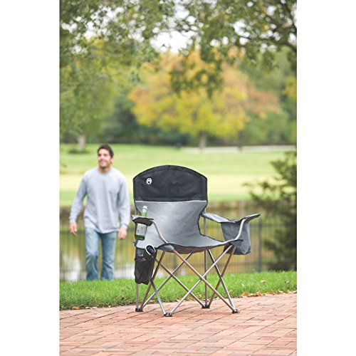 Coleman Cooler Quad Chair Gray Black Camping Hacks