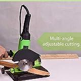 Baugger Angle Grinder Stand Grinder Holder, Metalworking Angle Grinder Bracket Holder DIY Aluminum Bracket Iron Base for Cutting Machine Angle Grinder Stand BG-6180