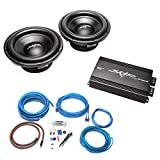 (2) Skar Audio VD-10 D2 500 Watt RMS Subwoofers with RP-800.1D Monoblock Sub Amplifier and 4 Gauge Amp Kit