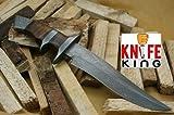 Knife King 'Emperor' Custom Damascus Handmade Hunting Knife. Top Quality. Comes Leather Sheath.