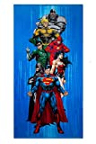 Crover SS-CRV-RTS-YTJ-6MV DC Comics Heroes Justice League Fiber Reactive Beach Towel