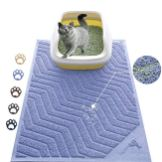 WePet-Cat-Litter-Mat-Kitty-Litter-Trapping-Mesh-Mat-35-x-23-Inch-Large-Purple-Premium-Durable-PVC-Rug-No-Phthalate-Urine-Waterproof-Easy-Clean-Washable-Scatter-Control-Litter-Box-Carpet