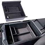JDMCAR Center Console Organizer Compatible with Toyota 4Runner (2010-2019 2020), Insert ABS Black Materials Tray, Armrest Box Secondary Storage