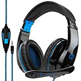Sades SA810 Multi-Platform Gaming Headset with Mic 3.5MM Jack in-LINE Volume Control Over-Ear Gaming Headphones for Playstation 4 / PC/Xbox one/Mac/Smartphones