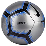 Nike Pitch Soccer Ball (Metallic Silver/Racer Blue) (4)