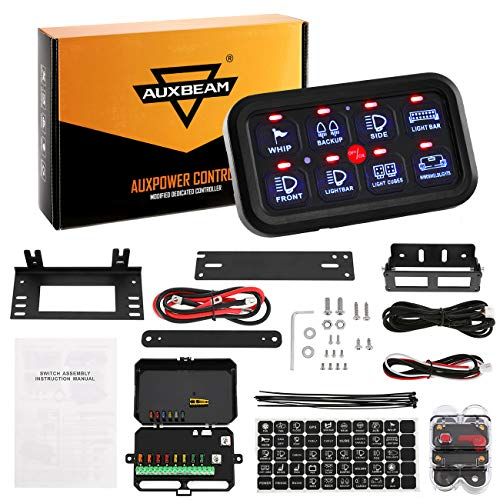 Auxbeam-8-Gang-LED-Switch-Panel-Automatic-Dimmable-Slim-Touch-Control-Panel-Box-with-Harness-and-Label-Stickers-for-Car-Marine-Boat-Caravan