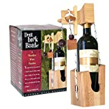 Don't Break The Bottle Wood Wine Carrier Puzzle Gift - Original