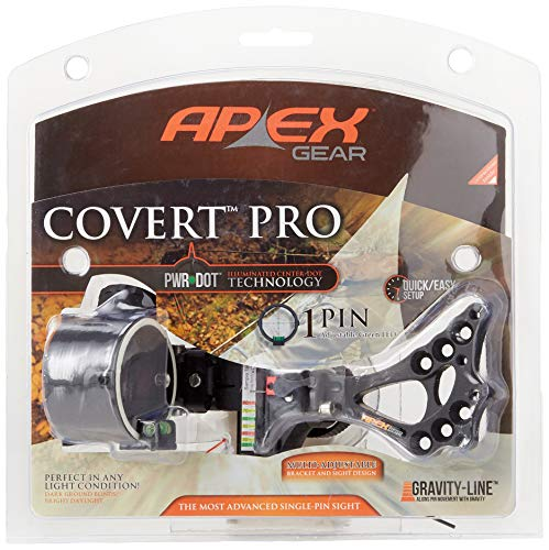 Apex Gear AG2301GB 1 Dot Covert Pro Sight, Right Hand/Left Hand, Black