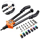 "TACKLIFE 14"" Auto Pumping Rod Rivet Nut Tool, Nut Sert Kit, 7Pcs Metric & Inch Mandrels, 35Pcs Rivet Nut"