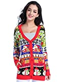 Product review for Christmas Sweater Cardigan, V28 Women Girls Ugly Fun Long Knit Colorful Sweaters