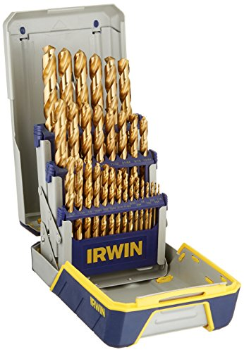 IRWIN Titanium-Nitride Coated Metal Index Drill Bit Set with Case, 29-Piece, 3018003