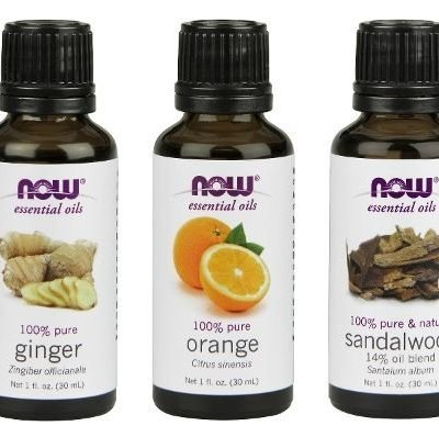 3-Pack Variety of NOW Essential Oils: Blissful Thinking- Ginger, Orange, Sandalwood