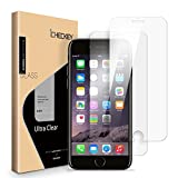 [ 2 Pack ] Screen Protector Compatible for iPhone 8 7 6s 6, ICHECKEY 2.5D Premium HD Clear Tempered Glass Screen Protector Cover for Apple iPhone 8/7/6s/6 4.7'
