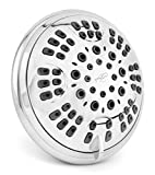 6 Function Adjustable Luxury Shower Head - High Pressure Boosting, Wall Mount, Bathroom Showerhead For Low Flow Showers - Chrome