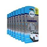 Febreze Heavy Duty Crisp Clean Car Air Freshener (8 Count, 0.06 oz)