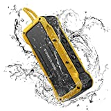 POWERADD MusicFly II 36W Portable Wireless Bluetooth Speakers, IPX7 Waterproof Bluetooth Speaker with Enhanced Bass, 24H Playtime, Built-in Mic for Home, Outdoors, Travel (Yellow)