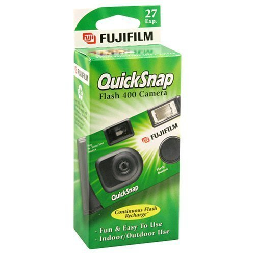 Fujifilm QuickSnap Flash 400 Disposable 35mm Camera 27 exposures (Pack of 4)