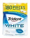 Trident White Sugar Free Gum, Peppermint, 180 Count