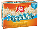 Jolly Time Crispy 'n White - Natural Light & Fluffy Whole Grain Microwave Popcorn, 3-Count Boxes (Pack of 12)