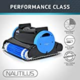 Dolphin Nautilus Automatic Robotic Pool Cleaner with Dual Filter Cartridges, Two Scrubbing Brushes and Tangle-Free Swivel Cord, Ideal for In-ground Swimming Pools up to 50 Feet.