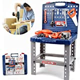 Liberty Imports Toy Tool Workbench for Kids Pretend Play - Construction Workshop Toolbench STEM Building Toys with Realistic Tools and Electric Drill