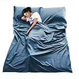 VeMee Sleeping Bag Liner Travel Camping Sheet Lightweight Breathable Cotton Sleeping Sack Ultralight Compact Sleep Sheet Carry Bag for Picnic,Hiking