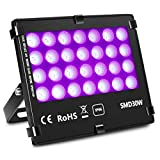 UV LED Black Lights, KINGBO High Power 30W UV LED Blacklight Flood Light Glow in The Dark Outdoor UV LED Light Waterproof for Party Club DJ Disco Stage Lighting Birthday Parties Blacklight Party
