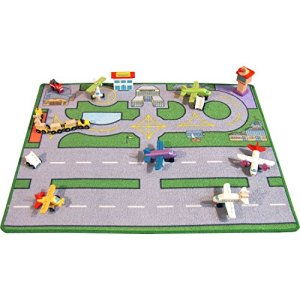 Be-Active Large Heathwick Airport Playmat – A Fun Addition For The Bedroom, Playroom, Nursery Or Class Room! 51X3od1lHRL