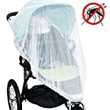 Jolik Mosquito Net for Stroller Carriers Car Seats Cradles, Universal Size, High-Density Stroller Mosquito Net