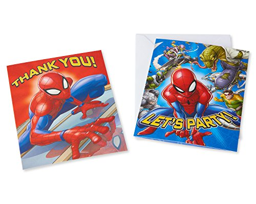 American greetings spider man 8 count invite and thank you combo american greetings spider man 8 count invite and m4hsunfo