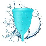 Blossom Menstrual Cup! Say No to Tampons. Get Blossom Cups for Menstrual (Small, Blue)