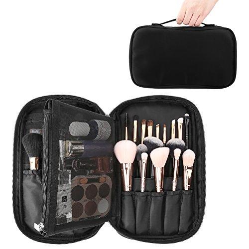 Luxspire Cosmetic Case Makeup Brush Organizer, Professional Cosmetic Bag  Storage Case Box Make up Handbag ... 22ea9f877e