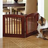 Orvis Panel Zig-zag Dog Gates / 36' h Four-Panel Gate: Covers Up to A 6' Span, Weighs 28 1/2 Lbs, Dark Cherry