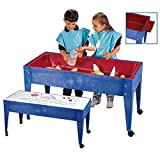 Constructive Playthings Sand and Water Table with Dry-Erase Top, Indoor and Outdoor Friendly