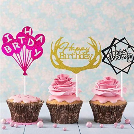24 Pezzi Buon Compleanno Torta