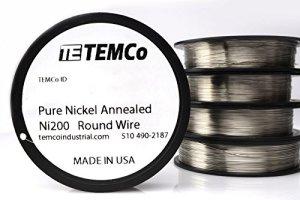 TEMCo Pure Nickel Wire 28 Gauge non resistance AWG Ni200 Nickel 200ga