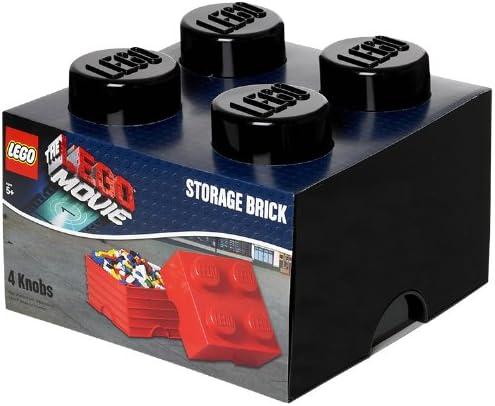 Amazon Com Lego Movie Storage Brick 4 Black Home Kitchen