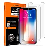 Spigen Tempered Glass Screen Protector Compatible with iPhone Xs (2018) / iPhone X (2017) [2 Pack] - Screen Protection