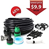AGSIVO Home Garden Patio Misting Micro Flow Drip Irrigation Misting Cooling System Plastic Mist Nozzle Sprinkler Micro Blubber for Patio Garden Greenhouse Trampoline for waterpark (32.8ft A